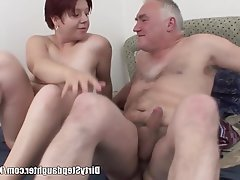 Big Boobs, Blowjob, Old and Young, Redhead