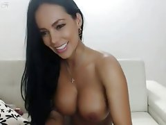 Big Boobs, Brunette, Webcam, Masturbation