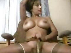 Big Boobs, Indian, Stockings
