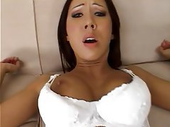 Blowjob, Lingerie, Redhead, Big Boobs