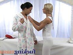 Blonde, Lesbian, Massage