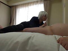 Asian, Blowjob, Cosplay, Handjob