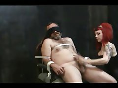 BDSM, Femdom, Handjob, Redhead